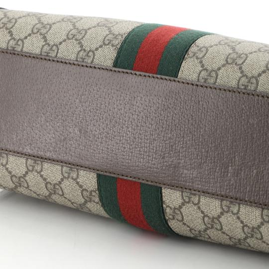 Gucci Canvas Satchel in Brown Image 5