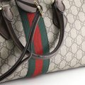 Gucci Canvas Satchel in Brown Image 6