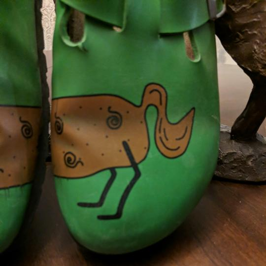 Birki's by Birkenstock Green and brown Mules Image 2