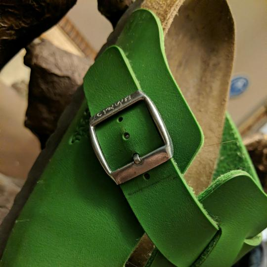 Birki's by Birkenstock Green and brown Mules Image 3