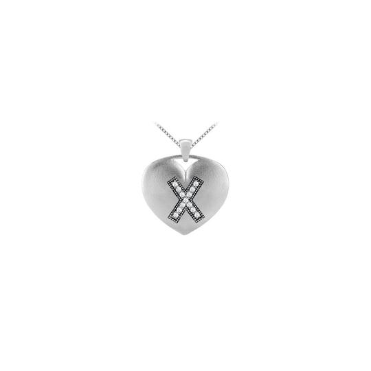 Preload https://img-static.tradesy.com/item/26251991/yellow-14k-white-gold-heart-pendant-in-diamonds-initial-x-with-013-carat-tdw-necklace-0-0-540-540.jpg