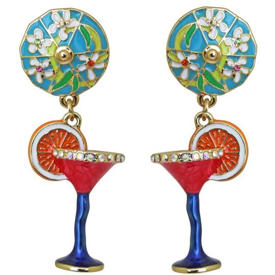 Preload https://img-static.tradesy.com/item/26252012/ritzy-couture-pool-party-cocktail-glass-multi-color-dangle-goldtone-clip-earrings-0-0-540-540.jpg