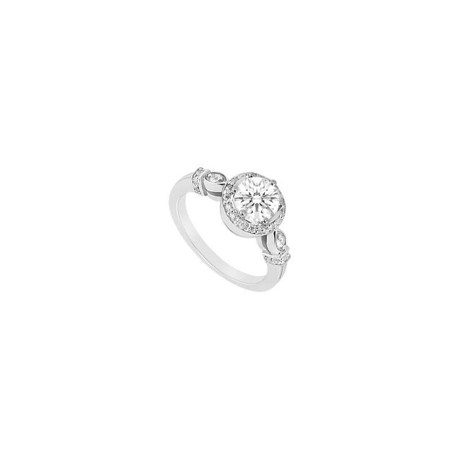 White 10k Gold Engagement with Cubic Zirconia 1.50 Carat Tgw Ring White 10k Gold Engagement with Cubic Zirconia 1.50 Carat Tgw Ring Image 1
