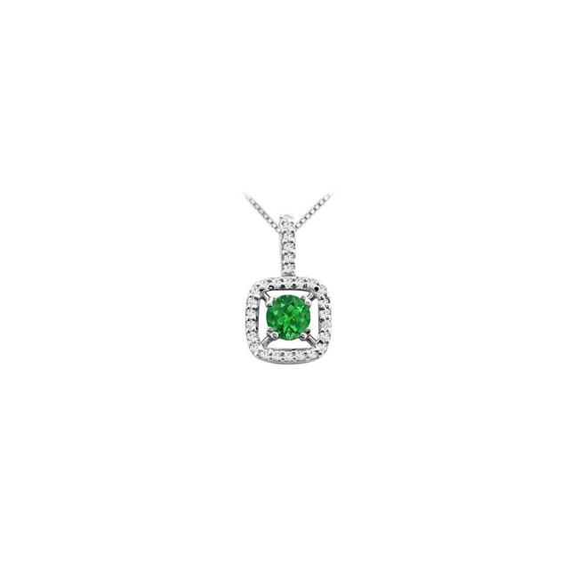 Green Diamonds Initial Y Heart Pendant In White Gold 14k with 0.09 Carat Necklace Green Diamonds Initial Y Heart Pendant In White Gold 14k with 0.09 Carat Necklace Image 1