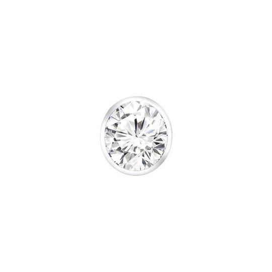 Marco B diamond initial I heart pendant in 14k white gold with 0.06 carat diam Image 1