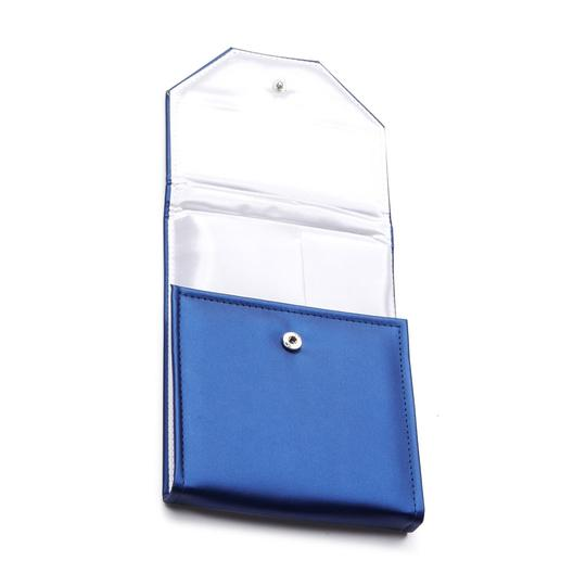 Marco B Round Created Sapphire Pendant in 14K White Gold Prong Set Image 4