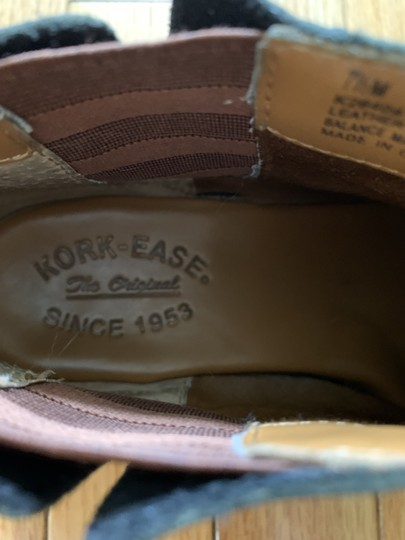 Kork Ease Ankle Leather Soles Low Brown Leather Footbed black Boots Image 3