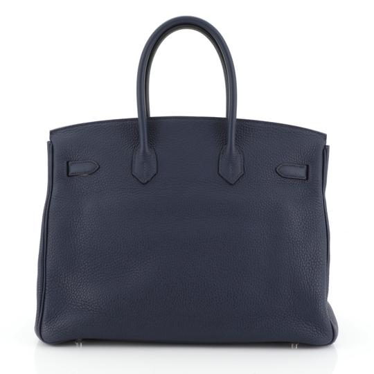 Hermès Birkin Leather Satchel in Blue Image 2