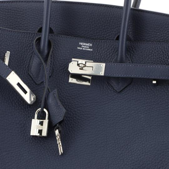 Hermès Birkin Leather Satchel in Blue Image 5