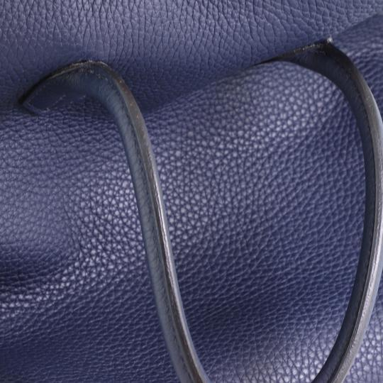 Hermès Birkin Leather Satchel in Blue Image 7