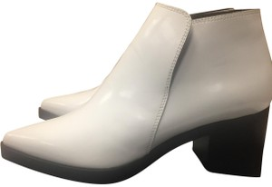Stella McCartney Ankle Pointed Toe Optical White Boots