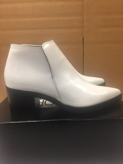 Stella McCartney Ankle Pointed Toe Optical White Boots Image 1