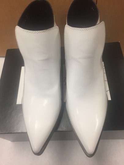 Stella McCartney Ankle Pointed Toe Optical White Boots Image 5