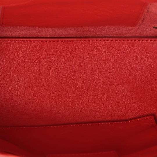 Balenciaga Studded Leather Satchel in Red Image 5