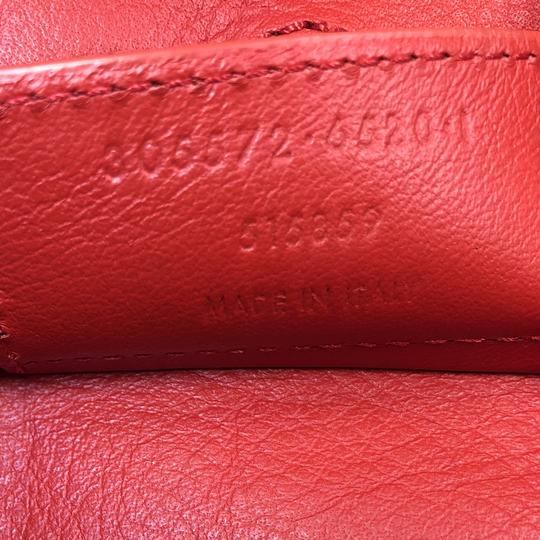 Balenciaga Studded Leather Satchel in Red Image 6