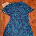 BCBGMAXAZRIA Turquoise & Navy Ckq6f672-a53 Mid-length Short Casual Dress Size 6 (S) BCBGMAXAZRIA Turquoise & Navy Ckq6f672-a53 Mid-length Short Casual Dress Size 6 (S) Image 3