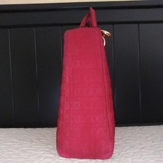 Dior Tote in Red Image 3