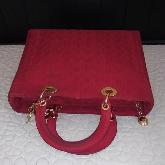 Dior Tote in Red Image 7