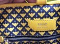 Bally Tote in mustard with black and purple print on the canvas Image 10