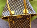 Bally Tote in mustard with black and purple print on the canvas Image 11
