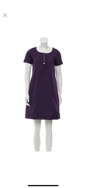 Burberry short dress purple on Tradesy Image 0