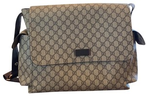 Gucci beige and brown Messenger Bag