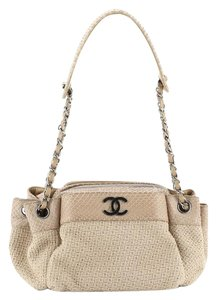 Chanel Straw Python Tote in Neutral