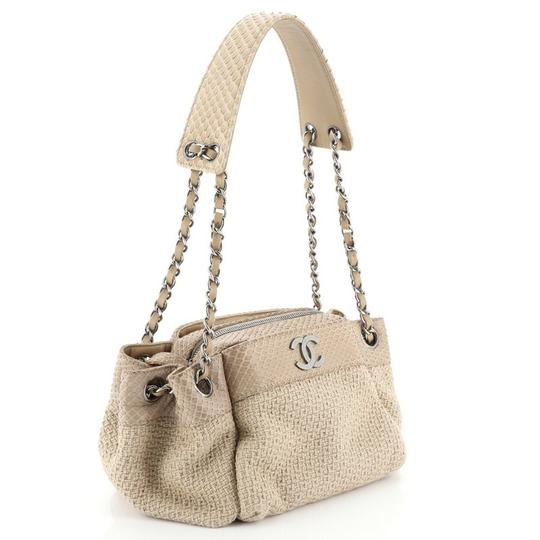 Chanel Straw Python Tote in Neutral Image 1