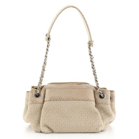 Chanel Straw Python Tote in Neutral Image 2