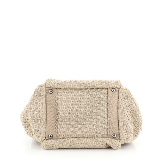 Chanel Straw Python Tote in Neutral Image 3