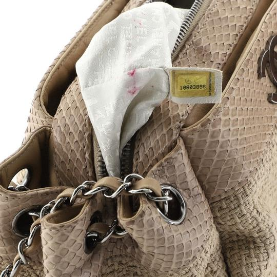 Chanel Straw Python Tote in Neutral Image 5