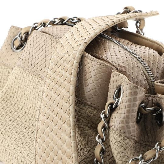 Chanel Straw Python Tote in Neutral Image 6