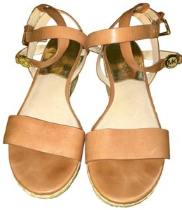 MICHAEL Michael Kors brown with gold hardware Sandals