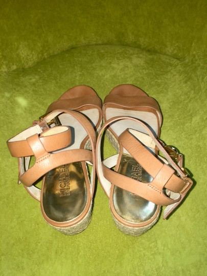 MICHAEL Michael Kors brown with gold hardware Sandals Image 1