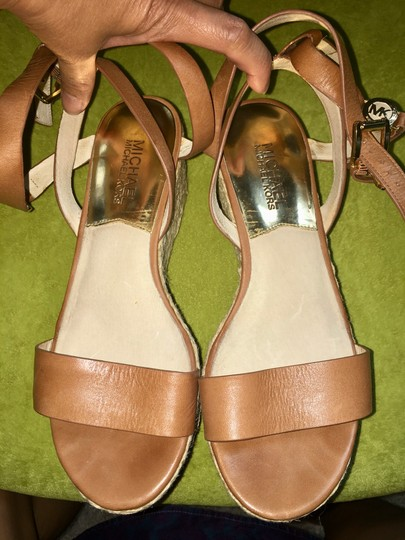 MICHAEL Michael Kors brown with gold hardware Sandals Image 3