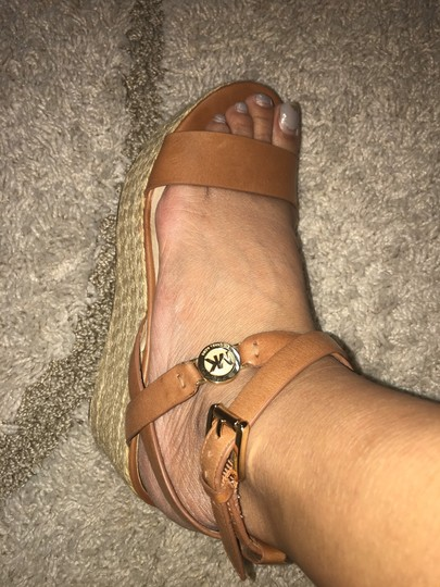MICHAEL Michael Kors brown with gold hardware Sandals Image 8