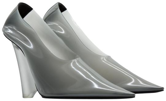 YEEZY Pvc Suede Pointed Toe Wedge Gray Pumps Image 0