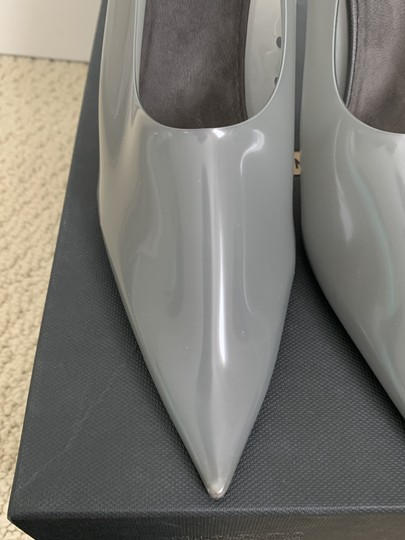 YEEZY Pvc Suede Pointed Toe Wedge Gray Pumps Image 8