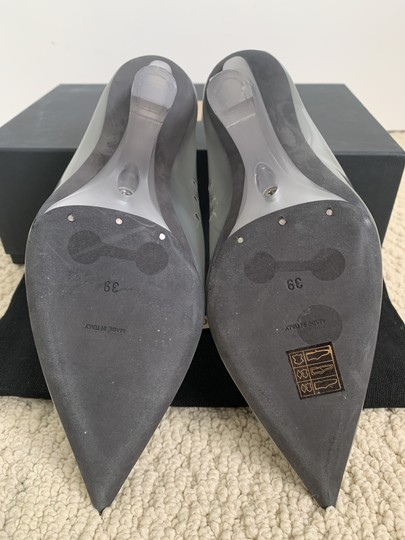 YEEZY Pvc Suede Pointed Toe Wedge Gray Pumps Image 9