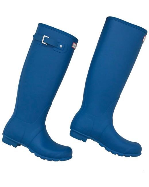 Hunter Ocean Blue Boots/Booties Size US 7 Regular (M, B) Hunter Ocean Blue Boots/Booties Size US 7 Regular (M, B) Image 1