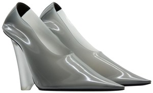 YEEZY Pointed Toe Pvc Wedge Gray Pumps