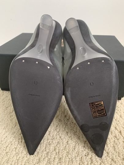 YEEZY Pointed Toe Pvc Wedge Gray Pumps Image 8