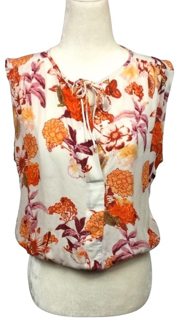 Preload https://img-static.tradesy.com/item/26252483/lucky-brand-cream-and-orange-fall-floral-sleeveless-tie-closure-blouse-size-2-xs-0-1-650-650.jpg