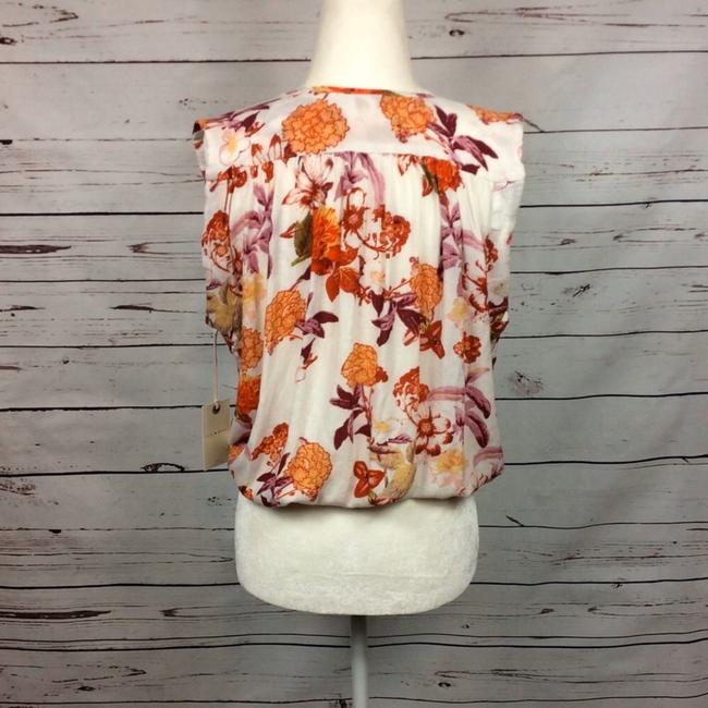 Lucky Brand Top Cream and Orange Image 2