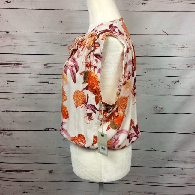 Lucky Brand Top Cream and Orange Image 3