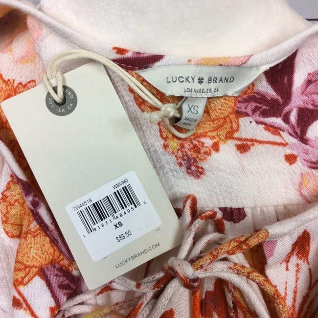 Lucky Brand Top Cream and Orange Image 4