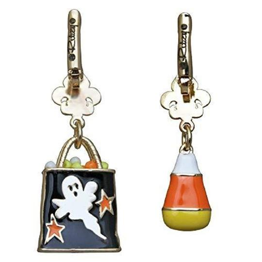 Ritzy Couture by Esme Hecht Candy Corn & Trick or Treat Halloween Multi Charm (Goldtone) Leverback Image 1