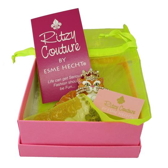 Ritzy Couture by Esme Hecht Candy Corn & Trick or Treat Halloween Multi Charm (Goldtone) Leverback Image 2