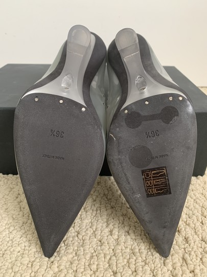YEEZY Pvc Pointed Toe Wedge Gray Pumps Image 10
