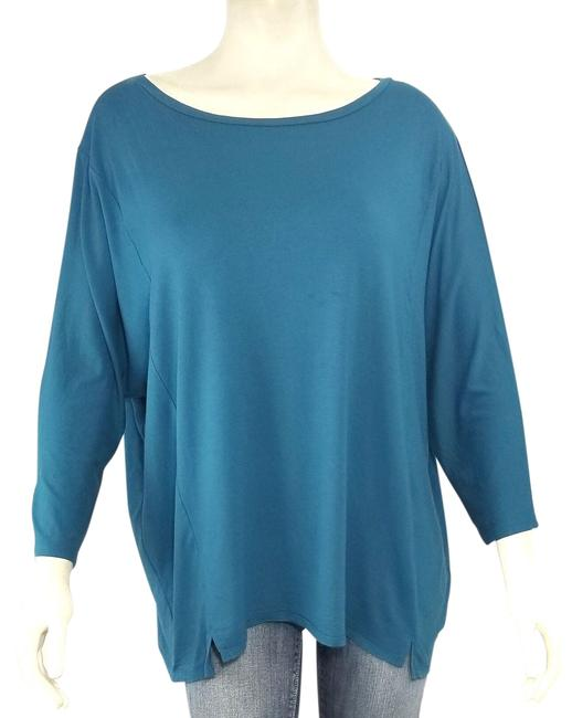 Preload https://img-static.tradesy.com/item/26252495/eileen-fisher-blue-viscose-knit-dolman-sleeve-tunic-size-16-xl-plus-0x-0-1-650-650.jpg